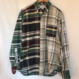 Thom Browne men's button down brushed cotton shirt